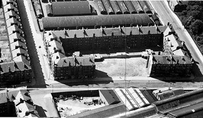 Govan tenements destroyed by WW2 bomb