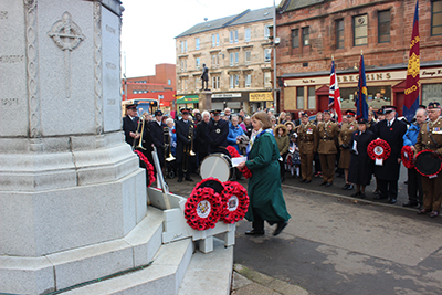 Remembrance Sunday 2017 at Govan War Memorial