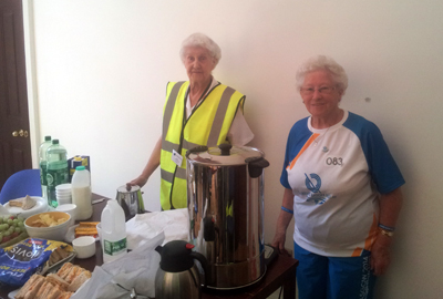 Flora and Jean help out at Fairfield